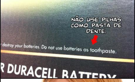 Contra indicações do creme dental
