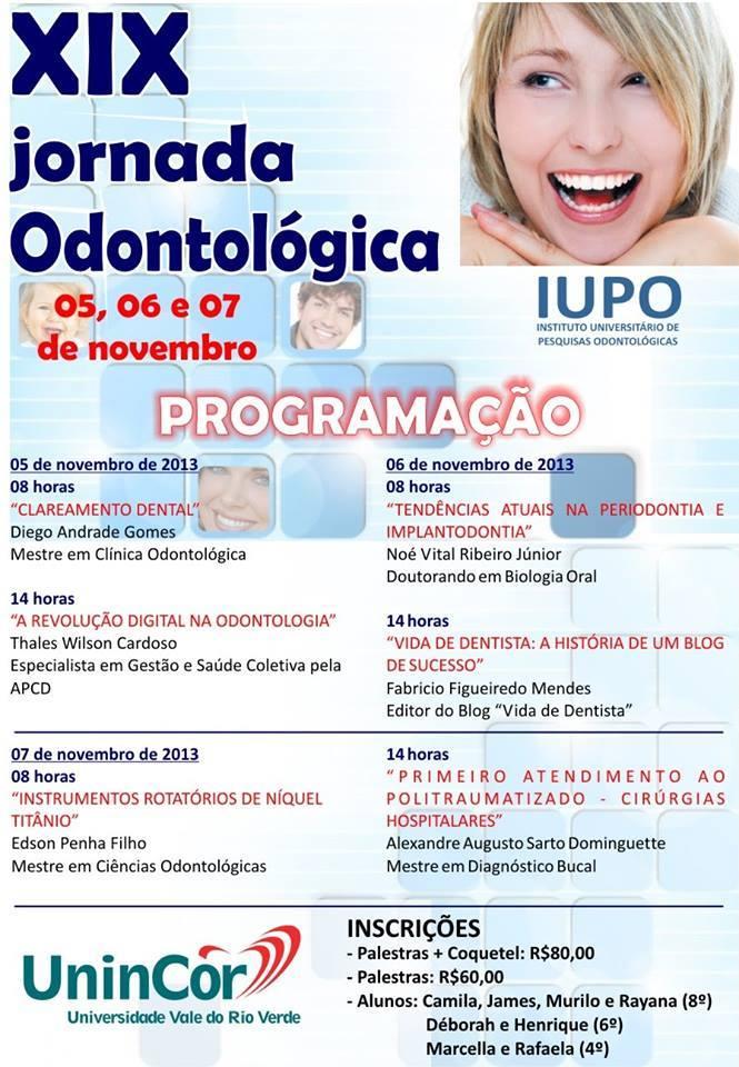 XIX Jornada Odontológica da UninCor